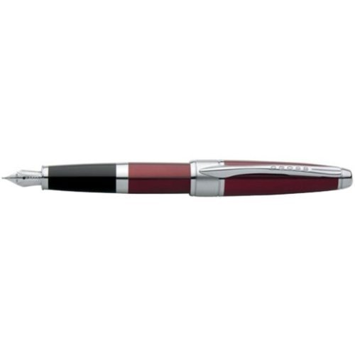 cross-apogee-titian-red-chrome-plated-appointments-fountain-pen-medium-by-cross