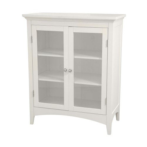 Purchase Elegant Home Fashions Madison Avenue Collection Shelved Double-Door Floor Cabinet, White