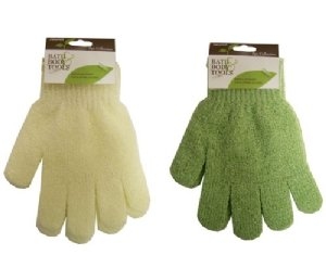 Swissco Bath & Shower Exfoliating Gloves Assorted Color (Single Pice)