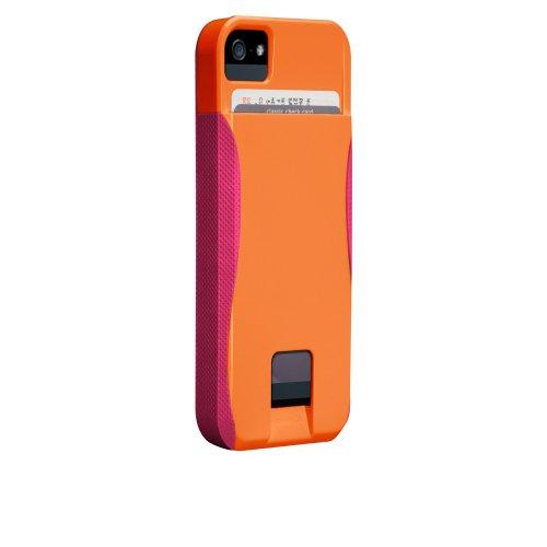 Case-Mate 日本正規品 iPhone5 POP! ID Case, タンジェリンオレンジ/リップスティックピンク 【カードホルダーつき ハイブリッド・ハードケース】 CM022412
