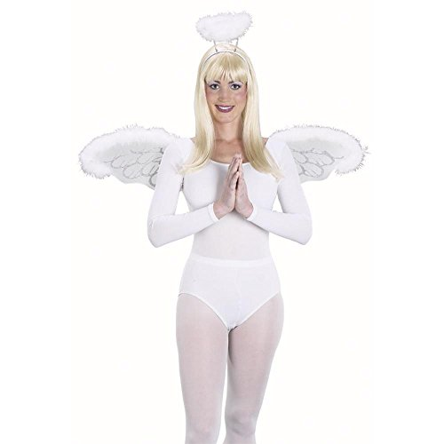 Adult's White Angel Costume Wings Kit