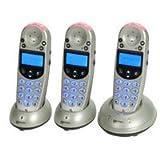 Geemarc Telecom AmpliDECT 250 Triple DECT Phone Set - Silver