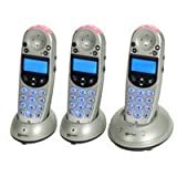 Geemarc Telecom AmpliDECT 250 Triple DECT Phone Set - Silverby Geemarc