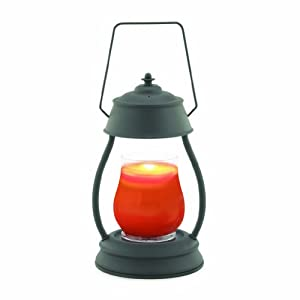 Hurricane Candle Warmer Lantern Lamp - Black