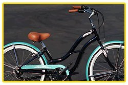 Aluminum frame, Fito Brisa Alloy 7-speed - Midnight Blue/Turquoise, women's 26