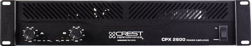 Crest Audio Cpx 2600 Power Amplifier With Neutrik Speakon Technology And 5-Way Binding Post Outputs