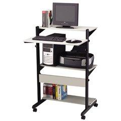 Buy Low Price Comfortable Tiffany Industries Soho™ Adjustable Mobile Computer Table (B001CLCO96)