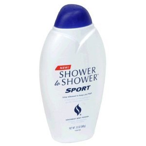 Shower to Shower Absorbent Body Powder, Sport, 13-Ounce Bottles (Pack of 2)