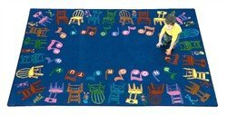 "Joy Carpets Kid Essentials Music & Special Needs Musical Chairs Rug, Multicolored, 10'9"" x 13'2"""