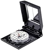 Brunton 27 LU Compact Pin-On Mirrored Compass With Luminous Points & Sun Watch