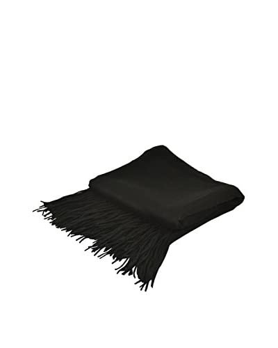 PÜR Cashmere Signature Blend Throw, Black
