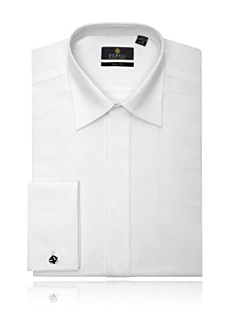 Chemise de Smoking en coton Blanc, coupe slim Col Standard Devant sans plastron - 37