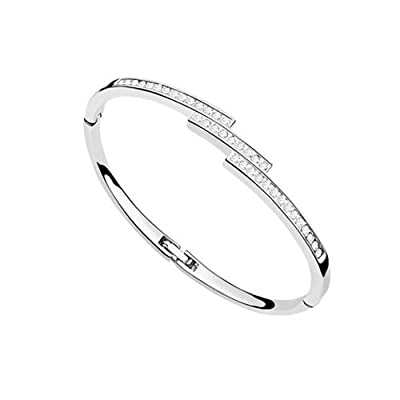 Rarelove Swarovski Elements Crystal 18K Gold Plated Fashion Bangle Bracelet