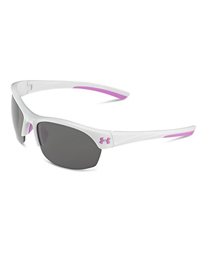 Image of Under Armour Women's Marbella 8600066-105701 Sunglasses, Shiny White, 62 mm