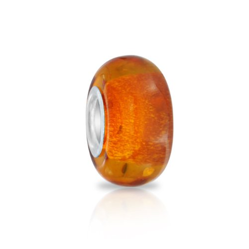 Flecks of color in shades of brown and warm orange tones set our beautiful honey amber bead apart from the rest.  Amber is made from fossilized tree resin.  Since Neolithic times, amber has been appre