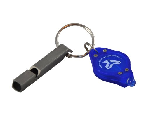 NiteCore NWS10 120 dB Titantium Loudest Survival Emergency Whistle with Bonus Lumentac Keychain Light (4 Sevens Titanium Whistle compare prices)