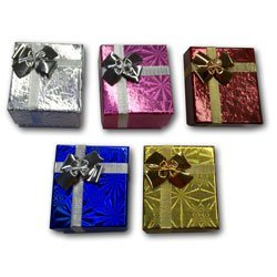 48 Mix Hologram Colors Ring Jewelry Gift Boxes