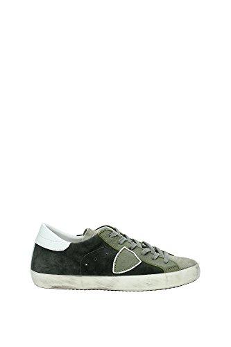 Sneakers Philippe Model Uomo Camoscio Verde e Bianco CLLUXC12 Verde 40EU