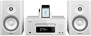 Denon N7WTE2GB CEOL Network Music System with FM/AM, CD Player, iPod Dock & WiFi Media Streaming with Speakers