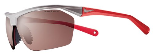 Nike Tailwind Sunglasses, Matte Platinum/Red, Max Transitions Speed Tint Lens