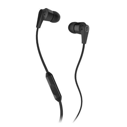 Skullcandy-Supreme-Sound-Earphones-Inkd-20-Flat-Cord-w-Mic-Earbud-Headphones-Hassle-free-Packaging-Black-Color-Black-Inkd-20-w-Mic-Model