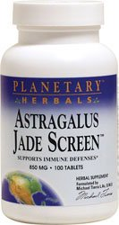 Planetary Herbals Astragalus Jade Screen 100 tabs