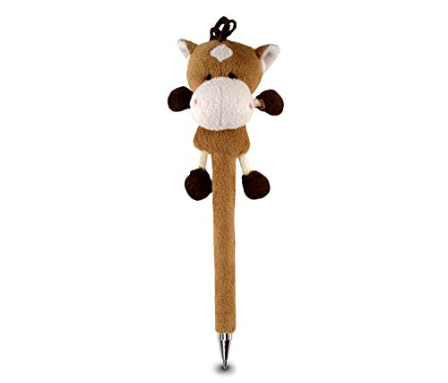 Puzzled Horse Plush Pen
