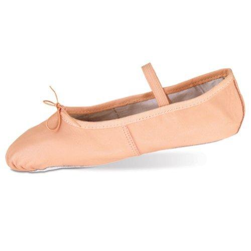 Danshuz Toddler Little Girls Pink Deluxe Leather Ballet Shoes Size 6-3