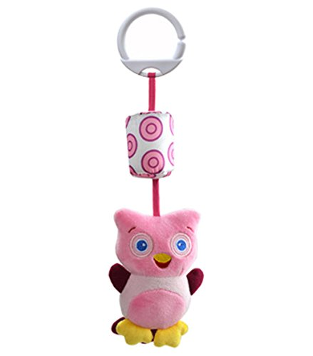 Rattle and Play Stroller Wind Chime Activity Toy -Owl