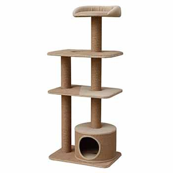 PetPal 4 Level Jute Made Cat Furniture, 22-Inch by 15-Inch by 52-Inch