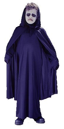 California Costumes Hooded Cape Black Child Cape with Hood NWT Costume, One Size