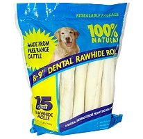 Rawhide Dental Rolls - 15 pk/ 3.7 lbs. (3 Pack)