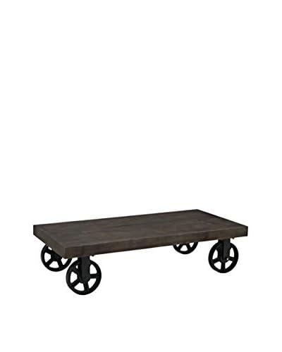 Modway Garrison Wood Top Coffee Table, Black