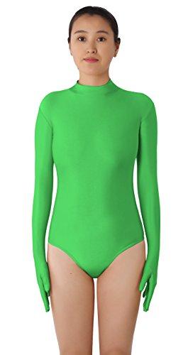 [JustinCostume Women's Lycra Long Sleeved Fingers Covered Leotard Costume, Custom...] (Lyrical Dance Costumes Custom)