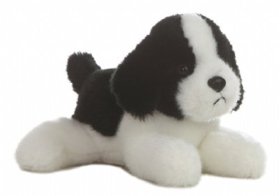 "Aurora World Simply Border Collie 8"" Plush - 1"