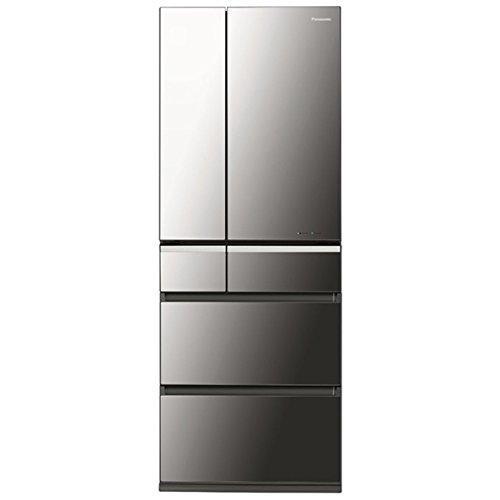 パナソニック 551L 6ドア冷蔵庫(オニキスミラー)Panasonic ナノイー エコナビ NR-F561XPV-X