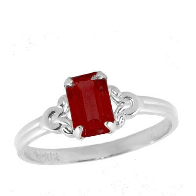 Girls Jewelry - Sterling Silver July Birthstone Ring (size 4)