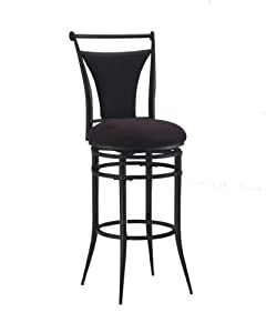 Hillsdale Cierra Swivel Bar Stool, Black
