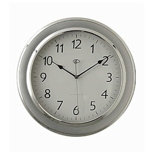 Amazon Com Telesonic Silver Wall Clock W Quiet Sweep