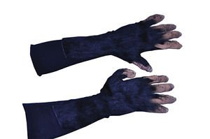 [Chimp Hands Adult Gloves Monkey Ape Safari Fur Scary Theme Party Halloween] (Chimp Hands Costume)