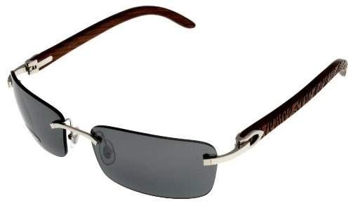 520f9a23e5da Purchase New Cartier Sunglasses C Decor Rimless Silver Unisex Wood T8200729