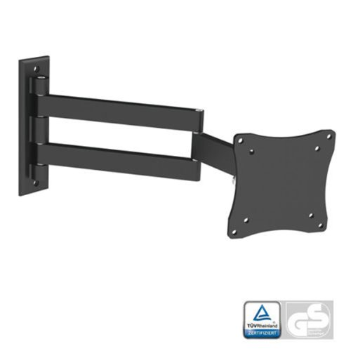 "Black Full-Motion Tilt/Swivel Wall Mount Bracket For Lg 24Lb4510 24"" Inch Led Hdtv Tv/Television - Articulating/Tilting/Swiveling"