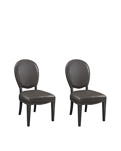 Coast to Coast Set of 2 Accent Dining Chairs, Grey
