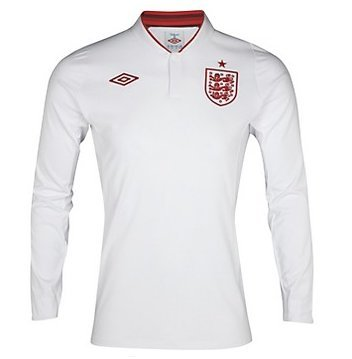England Mens Home Shirt 2012/13 LS 48 HMLS 12/13
