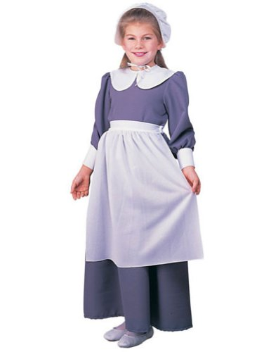 Kids-costume Pilgrim Girl Child Sm Thanksgiving Costume - Child Small