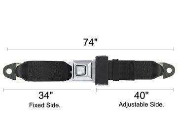2 Point Seat Belt, Starburst, 74 Inch, Tan front-586454