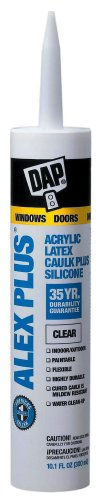Dap 18401 Crystal Clear Alex Plus Acrylic Latex Caulk Plus Silicone 10.1-Ounce