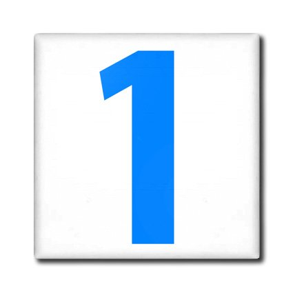 Ct_112245_4 Evadane - Numbers - 1, Happy 1St Birthday, Baby Boy, Blue - Tiles - 12 Inch Ceramic Tile front-31629