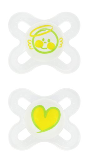 MAM 2 Pack Start Orthodontic Silicone Pacifier, Colors may vary