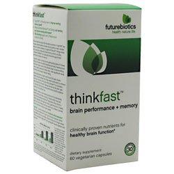 Futurebiotics Thinkfast Brain Performance & Memory -- 60 Vegetarian Capsules front-954402